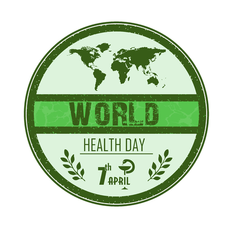 medicate: World health day concept with globe Illustration