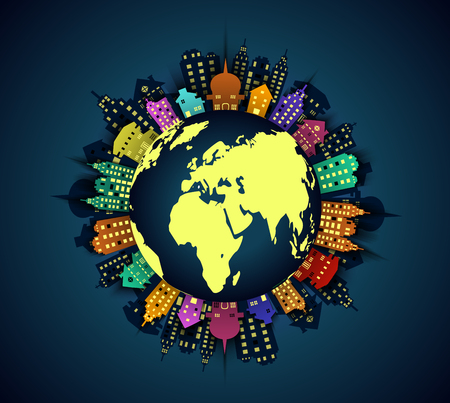 polluted: Polluted globe background Illustration