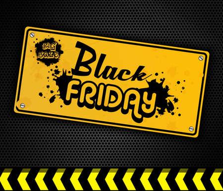 door sign: Black Friday yellow door sign