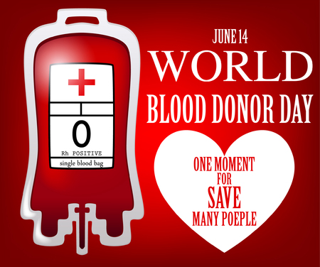 transfuse: Vector illustration of World blood donation day