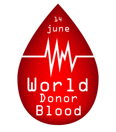 observance: Vector illustration of World blood donor day isolated white