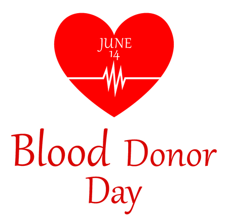 14th: Vector illustration of World blood donor day-June 14th