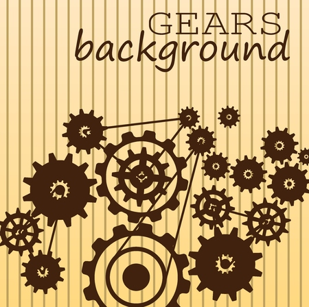 antique factory: Gears background
