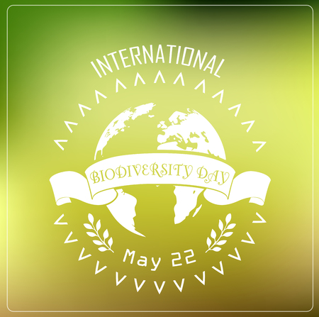 biodiversity: Vector illustration of Biodiversity international day background concept typography