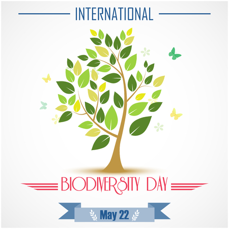 biodiversity: Vector illustration of Abstract trees for Biodiversity international day