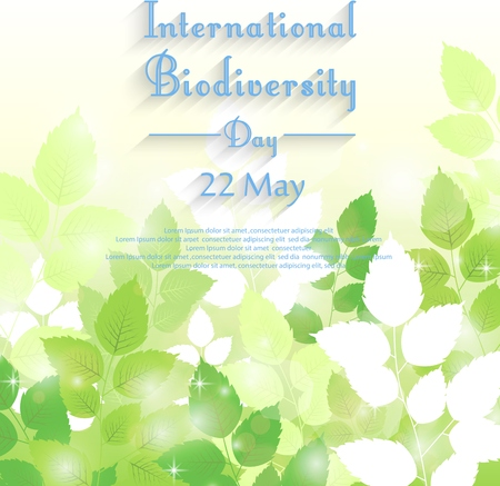 biodiversity: Vector illustration of Biodiversity international day background with fresh green leaves Illustration