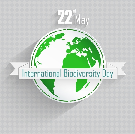 biodiversity: Vector illustration of International Biodiversity Day background