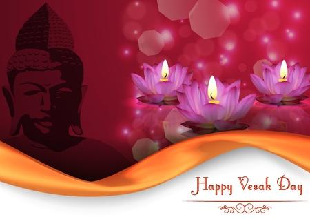 lotus effect: Vesak Day background banner