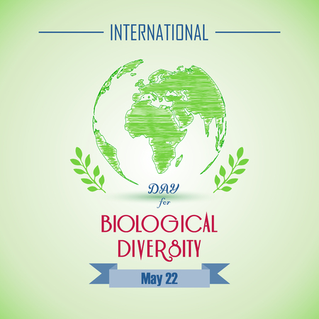 biological: International Biological day with shape paintings Illustration