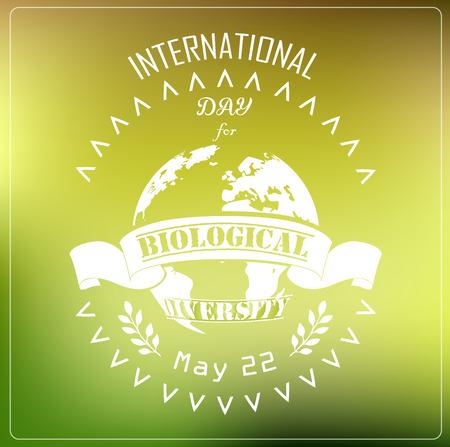 biological: International Biological day background concept typography Illustration