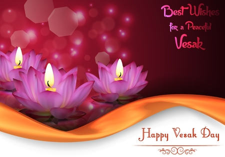 birthday religious: Vesak Day background banner