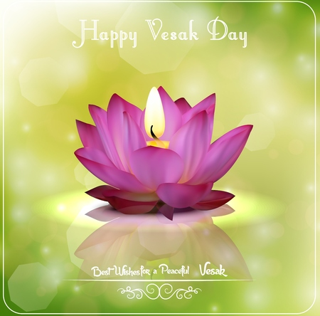 Buddha Purnima or happy Vesak day Stock Illustratie