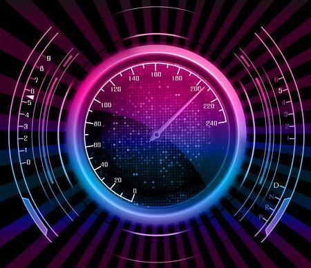 fast car: Speedometer