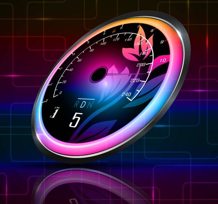 exceed: Speedometer abstract background