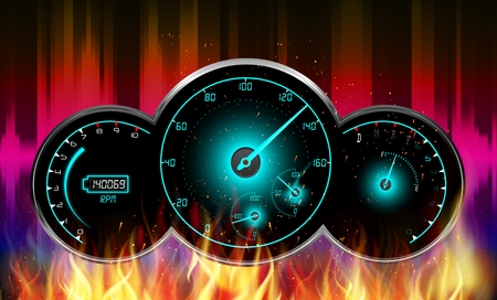 kilometer: Speedometer in fire
