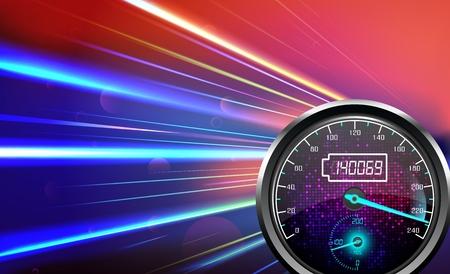 L'indicateur de vitesse, résumé, couleur claire, fond