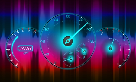 Speedometer abstract light background