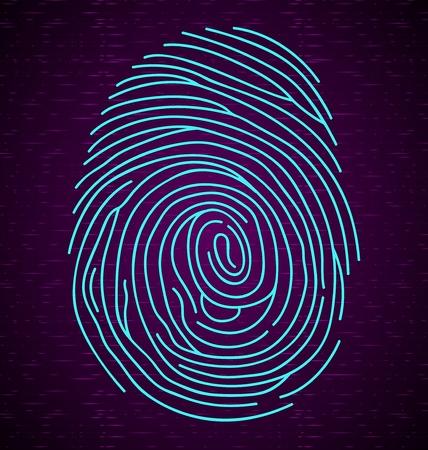 fingermark: Fingerprint on abstract background