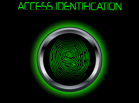 scanning: Fingerprint Scanning Access Identification Stock Photo