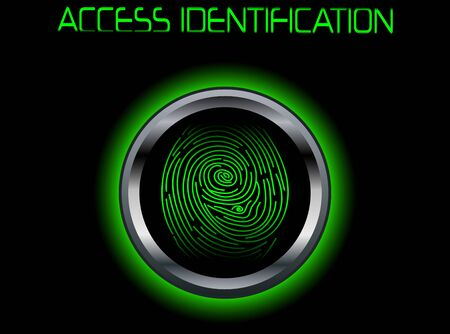 Fingerprint Scanning Access Identification Illustration