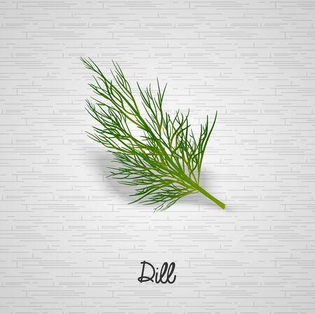 a sprig: Sprig of dill illustration