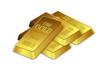 gold bars: Gold bars on the white background