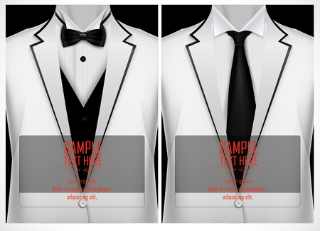 Set of business card templates with white jacket