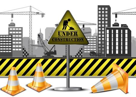 Vektor-Illustration von Under-Bau-Konzept