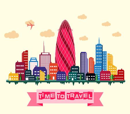Vector illustration of London city skyline Illustration