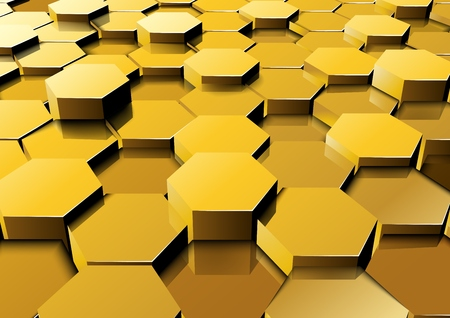 Vector illustration of Perspective hexagonal background 向量圖像