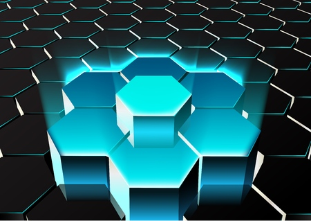 A vector illustration of Abstract hexagonal background. 向量圖像