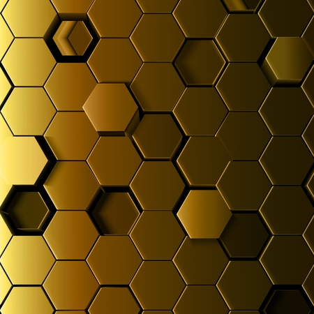 Vector illustration of Abstract hexagonal background