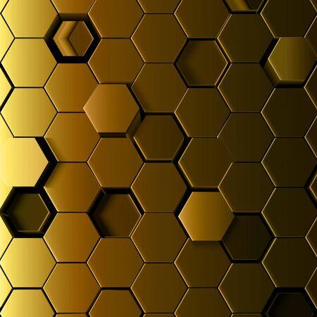 Abstract hexagonal background