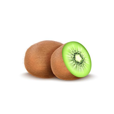 Vector illustration of Kiwi fruit isolated on white background Illustration