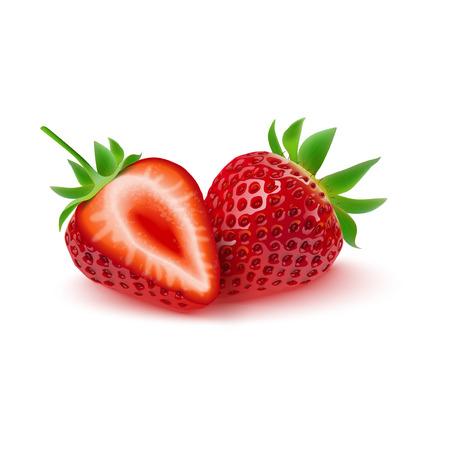 Vector illustration of Realistic strawberry isolated on white background Illustration