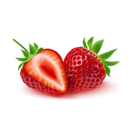 Vector illustration of Realistic strawberry isolated on white background Illustration