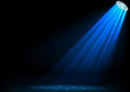 Blue spotlights on dark background Reklamní fotografie