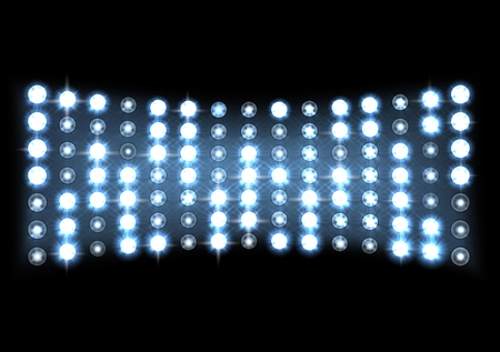 Led projection screen Stockfoto