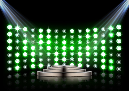 Vector illustration of Led projection screen