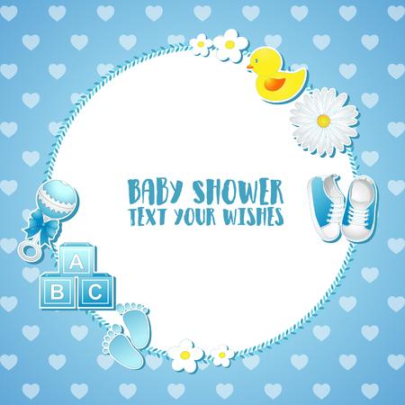 Vector illustration of Baby shower invitation card