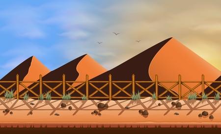 Desert sand landscape background