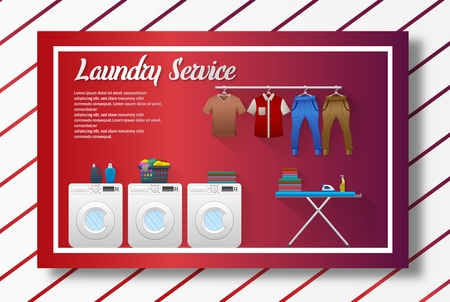 Vector illustration of Laundry service banner design