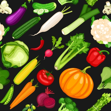 Organic vegetables collection set
