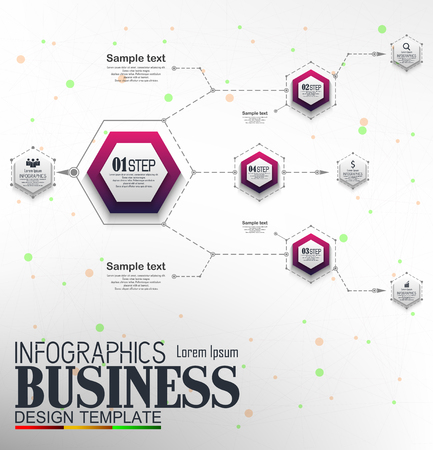 Vector illustration of Infographics Business Template concept with 4 options Reklamní fotografie - 122016256