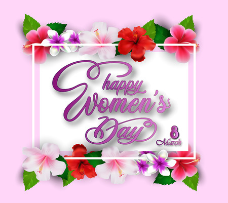 International Happy Womens Day greeting card 写真素材