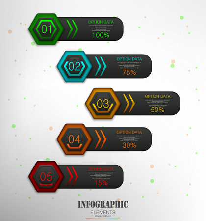Vector illustration of Infographics Business Template concept Illustration