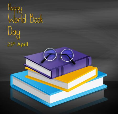 Vector illustration of a colorful book for World Book Day