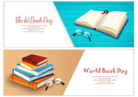 Vector illustration of World book day banners template Archivio Fotografico - 125216315