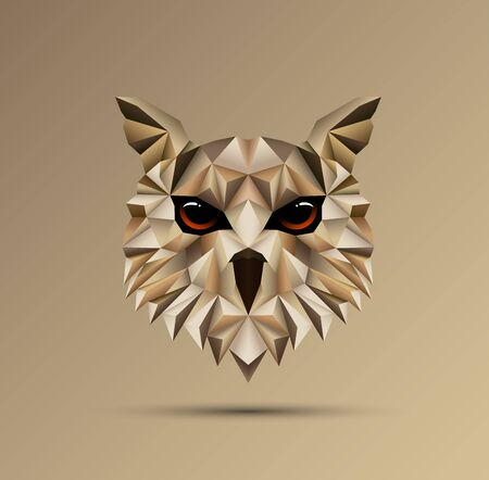 Vector illustration of Owl bird low poly design