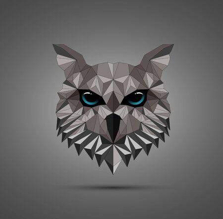 Vector illustration of Owl bird low poly design